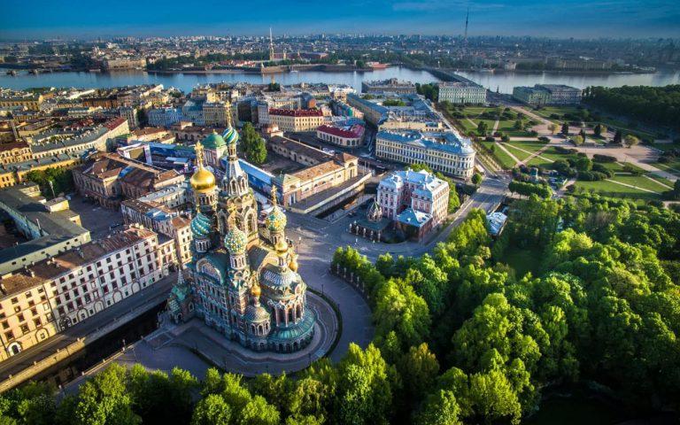 FIFA World Cup 2018. Church Savior on Blood - Saint Petersburg.